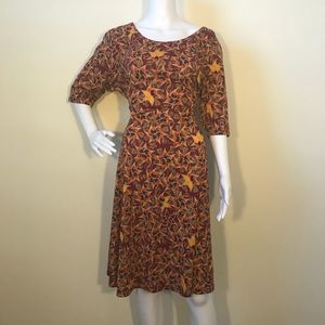 Lularoe Nicole Dress 3XL floral pinewheel